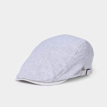 XiaoHeJD Casual Algodón de Lino Sombreros de Boina para Hombres ...