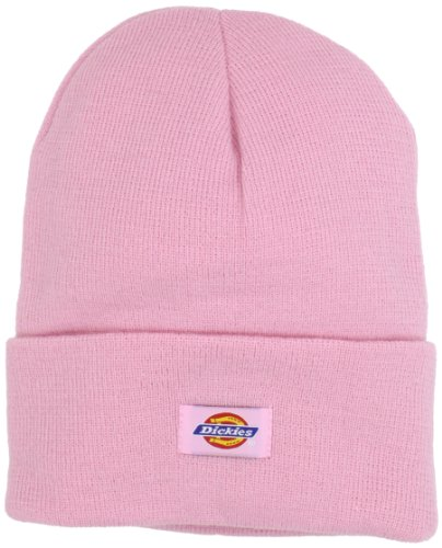 (Dickies Men's 14 Inch Cuffed Knit Beanie Hat, Pink, One Size)