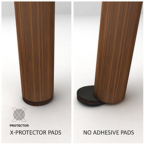 X Protector Premium 16 Thick 1 4 Heavy Duty Felt Furniture Pads 2 Felt Pads For Heavy