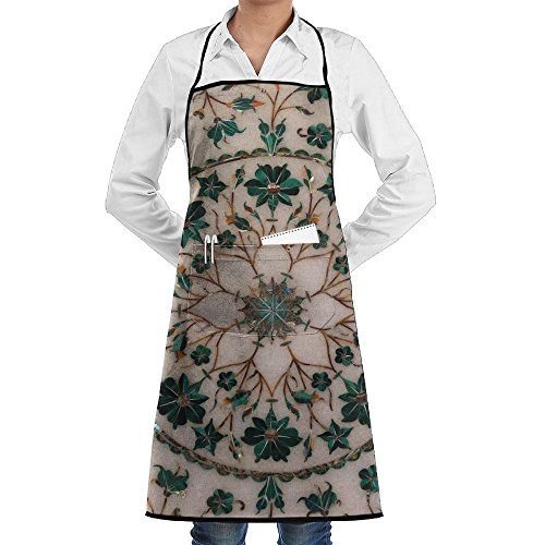 ZhiqianDF Agra India February Traditional Colorful Floral Marble Tabletops For Sale In Agra Uttar Durable Cotton Restaurant Black One Size Apron With Pockets - Sale For Woodshop