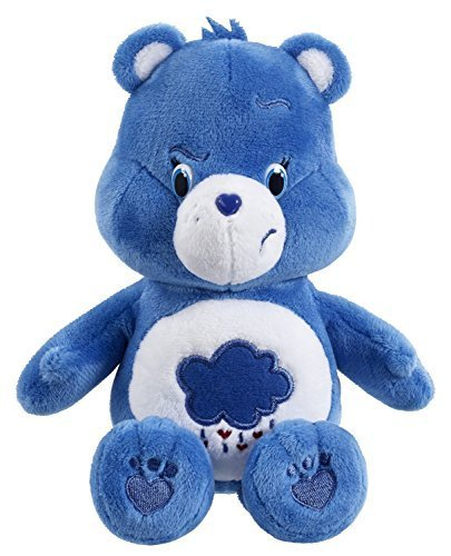 [Care Bears Grumpy Bear Blue medium Plush Stuffed Toy 12] (Care Bear Plush)