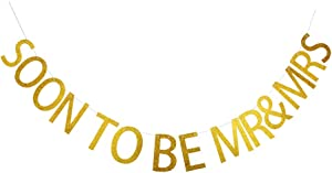 Soon to Be Mr. & Mrs. Banner, Celebrating A Memorable Party Decorations, Wedding/Anniversary Party Sign