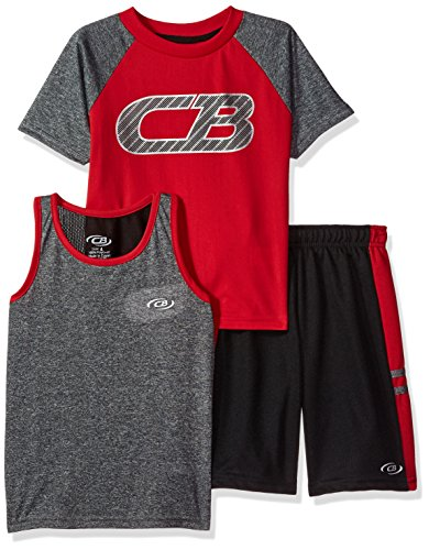 STX Little and Big Boys 2 Piece Performance Athletic Tank and Short Set