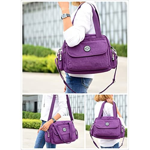 c2015cd58e32 GuiShi(TM) Lightweight Waterproof Nylon Handbag Crossbody Messenger ...