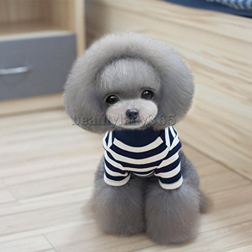 New Cute Winter Pet Puppy Striped Small Dog Cat Pet Vest T-Shirt Apparel Clothes - Chameleon Pet Costume
