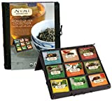 Numi Organic Tea World Of Tea Variety Gift Set, 45 Bags, Organic Tea Gift Box with Black, Green, Mate and Herbal Tea in Bamboo Chest, Individual Non-GMO Biodegradable Tea Bags (Packaging May Vary)
