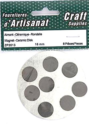 Magnet Ceramic Disks Round 16 Mm 8 Pieces Arts Crafts