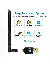 600 Mbps USB Adaptador WiFi para el computadora portátil PC de computadora