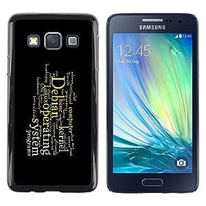 LECELL -- Funda protectora / Cubierta / Piel For Samsung Galaxy A3 SM-A300 -- Deep Message --