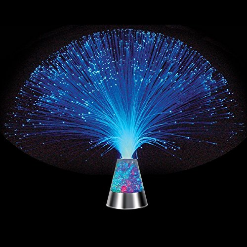 E&A Ice Fiber Optic Mood Novelty Lamps Lighting Glacier Lite with Color-Changing Crystals Base by E&A