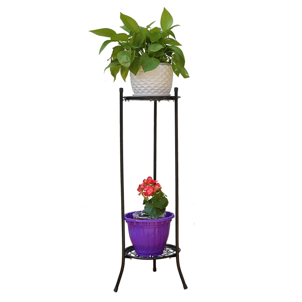 Flowers and friends CSQ Wrought Plant Frame/Flower Stand, Round Hollow Pattern Double Layer Living Room Bedroom Balcony 2880CM