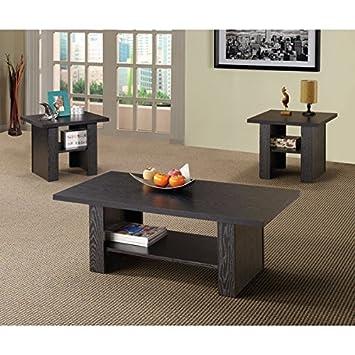 Superieur 3 Piece Black Oak End And Coffee Table Set