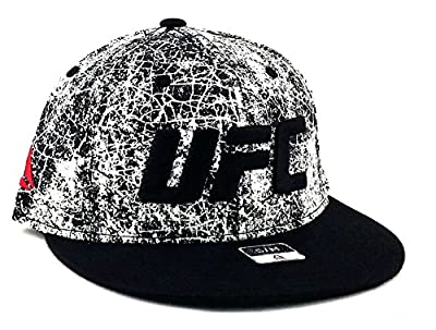 UFC Reebok New MMA Fighters Flex Black White Marbled Era Fit Fitted Hat Cap S/M by Reebok
