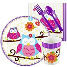 Owl Blossom Party Supplies - Snack Party Pack