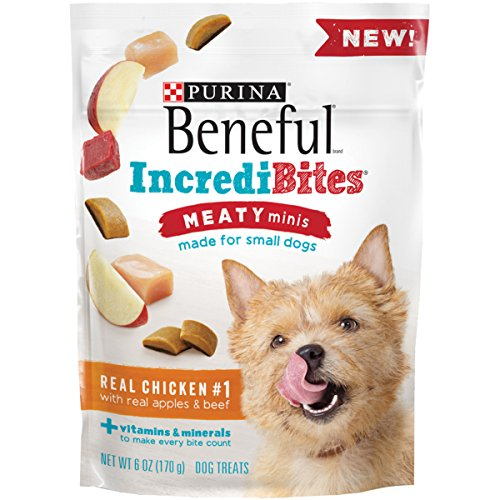 Purina Beneful IncrediBites Meaty Minis Real Chicken with Real Apples & Beef Dog Treats - (1) 6 oz. Pouch
