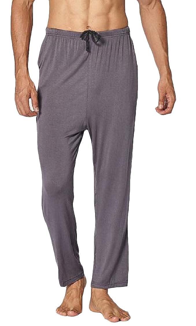 TEXXIS Men Casual Loose Modal Pajama Pants Cotton Breathable Home Pants Sleep Bottoms