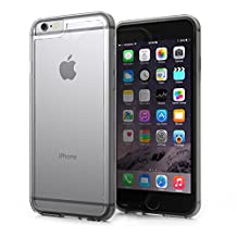 KHOMO Apple iPhone 6 Air 4.7'' Case - HYBRID Cover - Clear Elastic Bumper with Transparent Clear Back - 5 YEAR WARRANTY