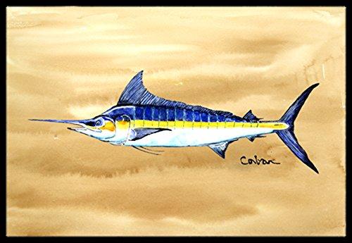 Caroline 's Treasures 8754jmat Swordfish on Sandy Beach屋内または屋外マット、24 x 36インチ、マルチカラー   B015TKY09C