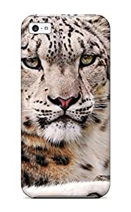 Hard shell Back For Iphone 4/4S Case CoverWhite Snow Leopard