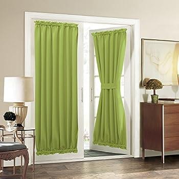 Amazon Com Aquazolax French Door Curtain Panels For