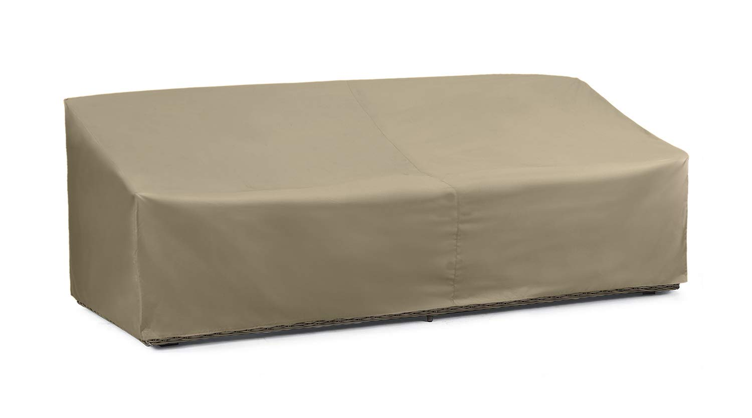 SunPatio Outdoor Oversized Sofa Cover, Lightweight, Water Resistant, Helpful Air Vents, All Weather Protection, 93.5'' L x 45'' W x 39'' H, Neutral Taupe by SunPatio