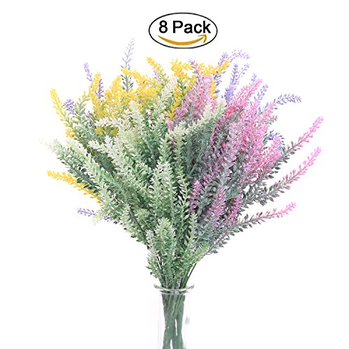Cheap  SVEN HOME 8 Bundles Artificial Flowers Lavender Bouquet plant for Home Bridal..