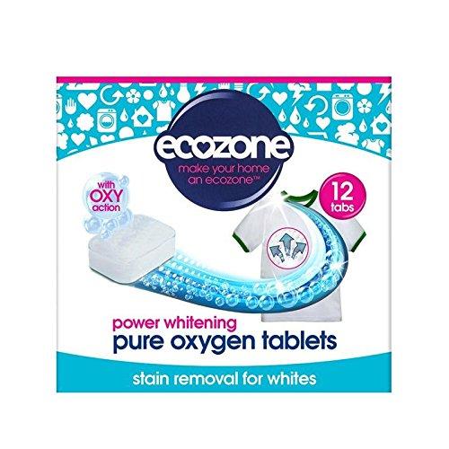 白人のための染み抜き剤&ホワイトナーは、12錠240グラムのアクションをオキシ (Ecozone) (x 6) - Ecozone Stain Remover & Whitener for Whites Oxy Action 12 Tablets 240g (Pack of 6) [並行輸入品] B01M1JW7XO