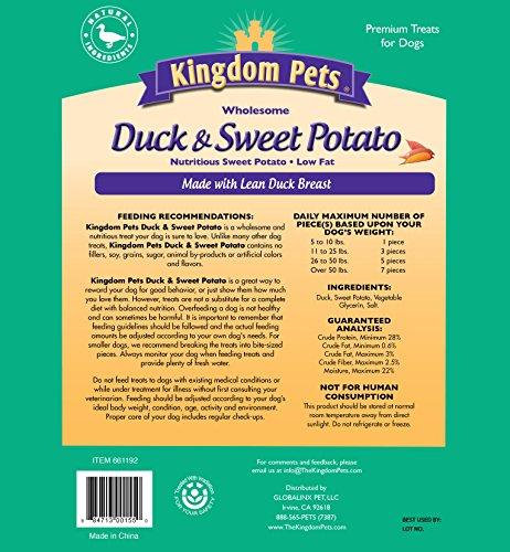 Kingdom Pets Premium Dog Treats, Duck and Sweet Potato Jerky Twists, 48 Ounce by Kingdom Pets (Image #1)