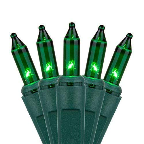 Traditional Indoor/Outdoor Holiday 300 Ct Green Mini Lights - Green Wire