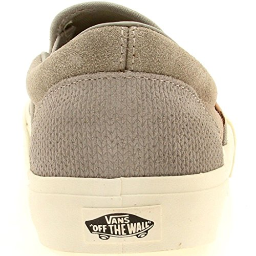 b3645afe85 Vans Mens Classic Slip-On Ca (Knit Suede) Aluminum VN-0IL5ETF - Import It  All
