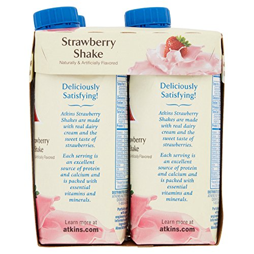 Atkins Ready To Drink Shake, Strawberry, 11 Ounce, 4 Count