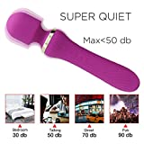LED Portable Vibrator Travel Dawn Sensor USB Daily Rechargeable Massage Computer Wireless Packing Pouches Compact Body Dawn Sensor Massager in Bedroom, Bathroom, Home-Energy Efficient (Purple-2)