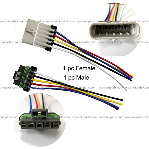 5-Pin Connector - Male and Female (For: Headlight Assembly International 4100 4300 8500 8600 CE Bus) ()