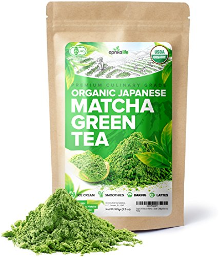 Organic Japanese Matcha Green Tea Powder  USDA & JAS Organic - Authentic Japanese Origin - Premium Culinary Grade - [100g Value Size]