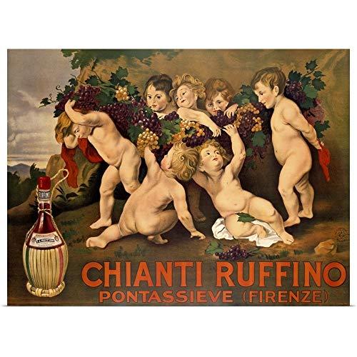 (GREATBIGCANVAS Poster Print Entitled Chianti Ruffino, Vintage Poster, by Leopoldo Metlicovitz by 24