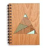 Geometric Pyramid Laser Cut Wood Journal (Notebook / Birthday Gift / Gratitude Journal / Handmade)
