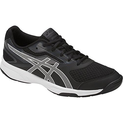 ASICS Men's Upcourt 2 Volleyball-Shoes, Black/White/Phantom, 9.5 Medium US