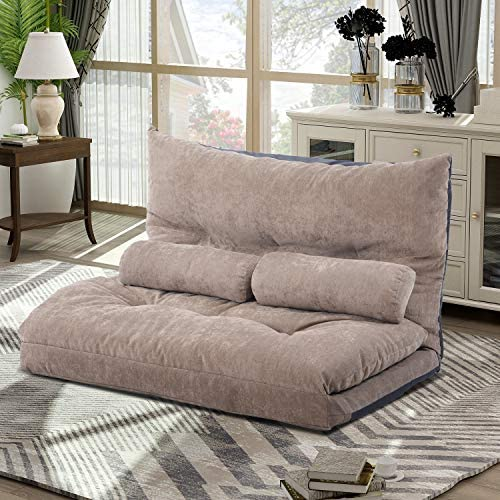 picture of Merax Floor Sofa Bed Adjustable Sleeper Bed Sofa Couches Living