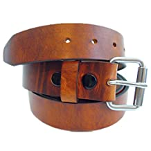Orion Leather Men's 1 1/2 Rustic Hot Dipped Tan Harness Leather Belt
