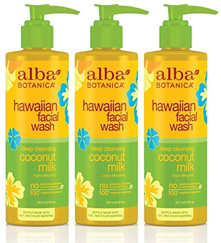 Alba Botanica Hawaiian Coconut Milk Face Wash, 8 Ounce - 3 per case.
