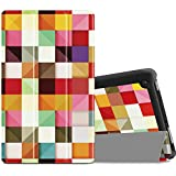 Infiland Case for All-New Fire 7 Tablet (2017 7th Generation) - Ultra Slim Lightweight Tri-fold Stand Cover For All-New Fire 7 Tablet (7th Generation, 2017 release), Color Diamond