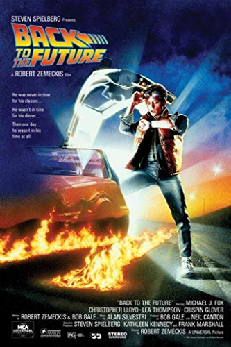 Back to the Future One Sheet Movie Poster 24x36 Inch ()