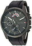 Tommy Hilfiger Men's Cool Sport Quartz Watch with Silicone Strap, Black, 22 (Model: 1791352