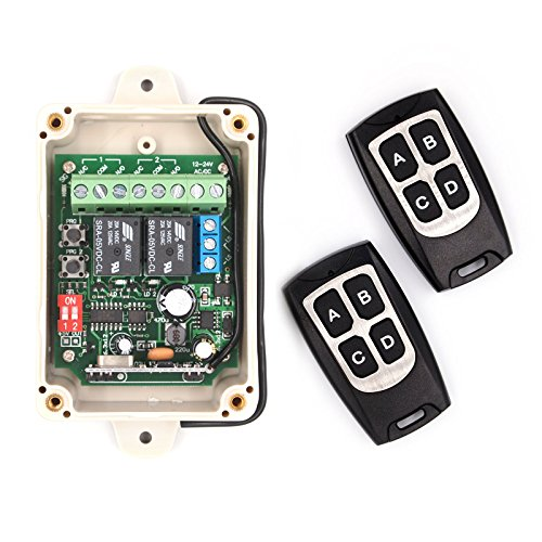 Solidremote-12-24V-Wireless-RF-Remote-Control-Relay-Switch-Receiver-2-Channel-with-2-Transmitters-433MHz-Secure-Rolling-Code-KIT-1