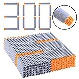 Goshfun 300Pcs High Buffered Refill Foam Darts Foam Bullets for Nerf N-Strike Elite Blaster - Orange Head + Grey Sponge