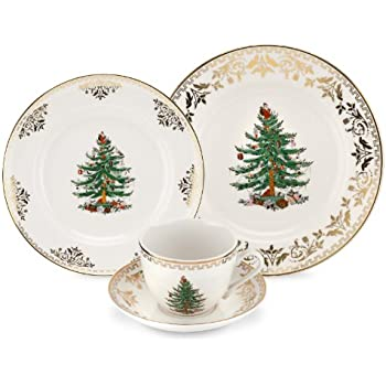 Spode Christmas Tree Gold 4-Piece Place Setting
