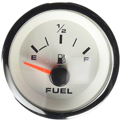 Sierra International 62551P White Premier E - 1/2 - F Dial Range Scratch Resistant Pro Fuel Gauge, 2