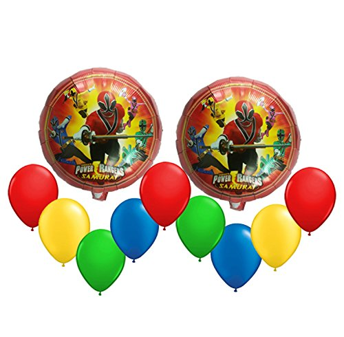 Power Ranger Samuray Balloon Bouquet 11 pc (Rangers Power Pinata)