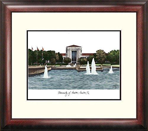 Lithograph Framed Houston (University of Houston Framed Lithograph Print)