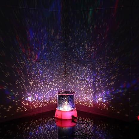 Aeeque Romantique Pink avec c/âble USB Enfants Lampe de Chevet Maison de Chambre D/écoration Lampe LED Master ciel /étoile /Étoil/ées mini /étoiles Projecteur
